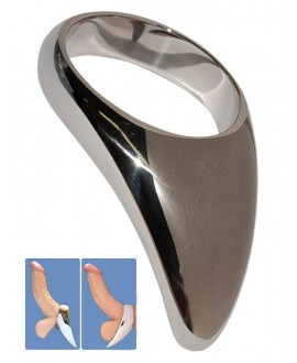 Stainless Steel Teardrop Cock Ring - 45mm