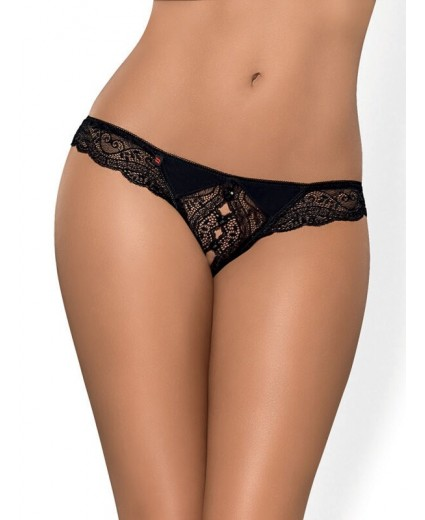 MIAMOR CROTCHLESS THONG BLACK