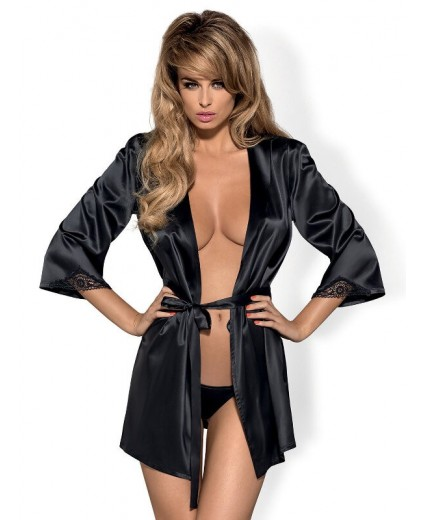 SATINIA ROBE NEGRO