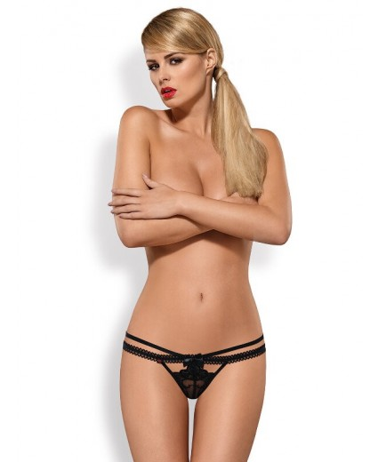 WONDERIA THONG BLACK