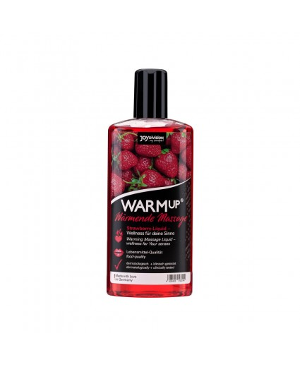ÓLEO DE MASSAGEM WARMUP MORANGO 150ML