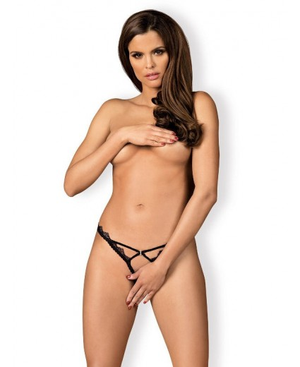 LOLITTE CROTCHLESS THONG BLACK