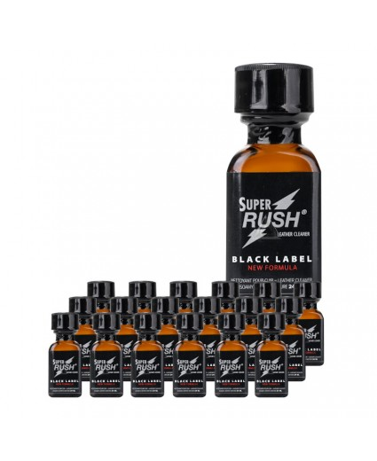 Super Rush Black Label 24ml - Caixa 18 Frascos