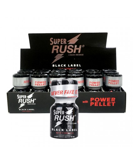 Super Rush Black Label 10ml - Caixa 18 Frascos