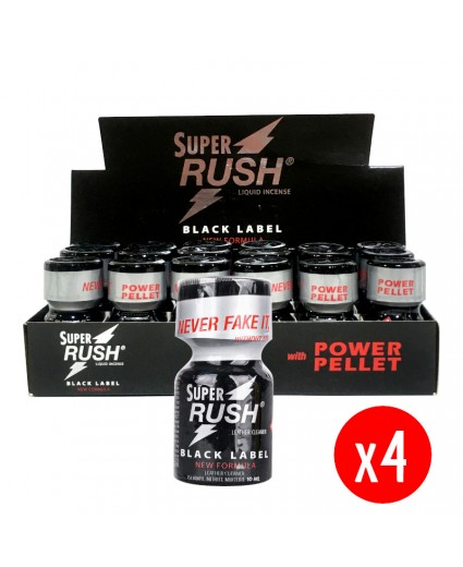 Super Rush Black Label 10ml - 72 Flacons