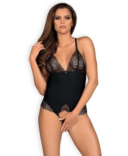 Chiccanta crotchless teddy Black