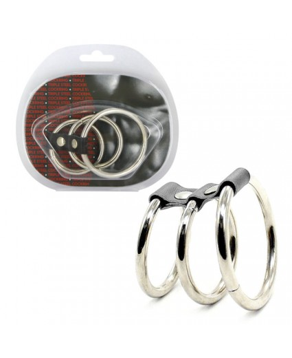 Triple Steel Cock Ring