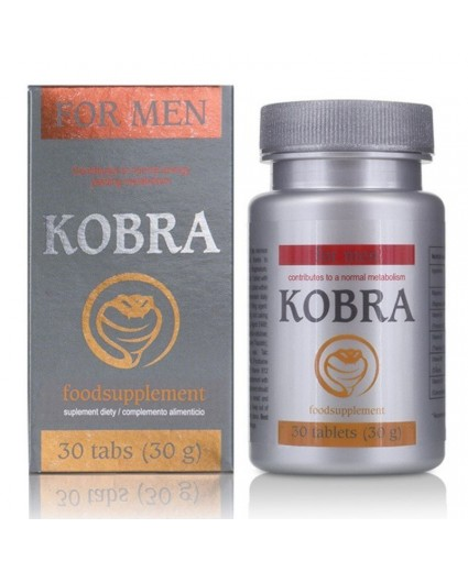 Potenciador masculino Kobra 30 Tabs
