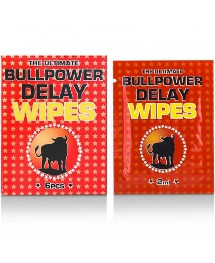 Toalhetes Retardantes Bull Power Delay Saquetas 6x2ml