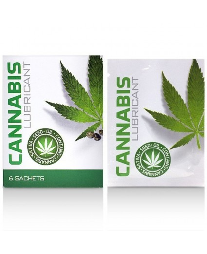 Lubrifiant Cannabis Lube Sachets 6x4ml