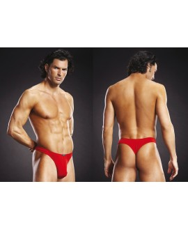 BLUE LINE Performance Microfiber Thong red L/XL