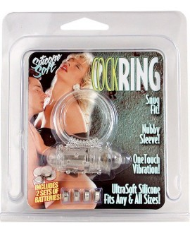 COCKRING SILICON VIBR CLEAR