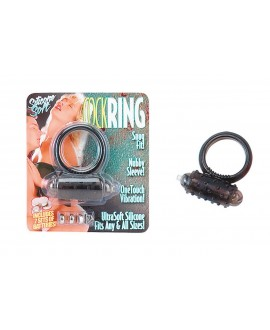 COCKRING SILICON VIBR BLACK