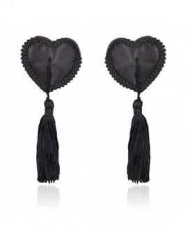 TAPA MAMILOS BLACK HEARTS