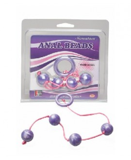 Marble Collection Anal Beads Medium Purple
