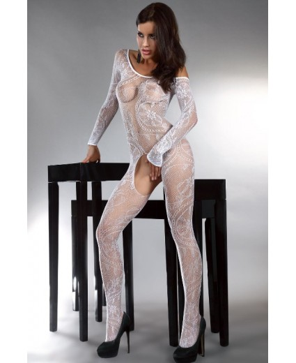 ABRA BODYSTOCKING – BLANCO