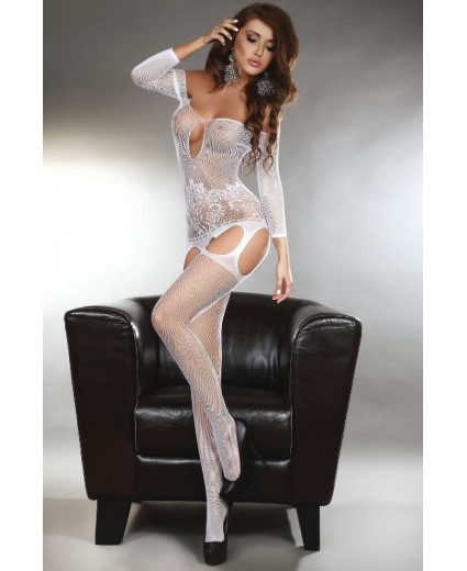 ADIVA BODYSTOCKING – BRANCO