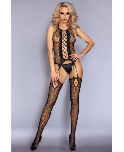 ARETA BODYSTOCKING BLACK