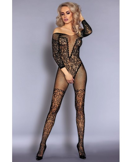 NURYA BODYSTOCKING BLACK
