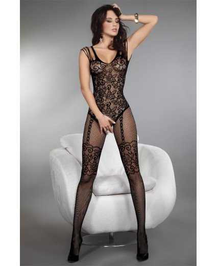 TEMPERANCE BODYSTOCKING PRETO