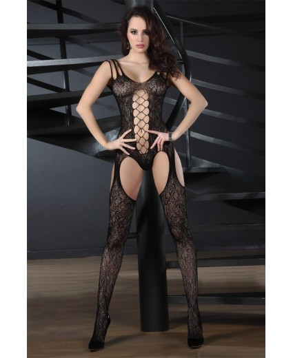 TURQUOISE BODYSTOCKING BLACK