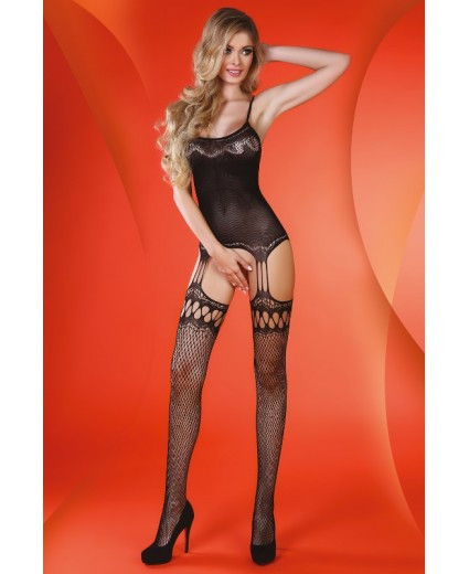 VALISA BODYSTOCKING NEGRO