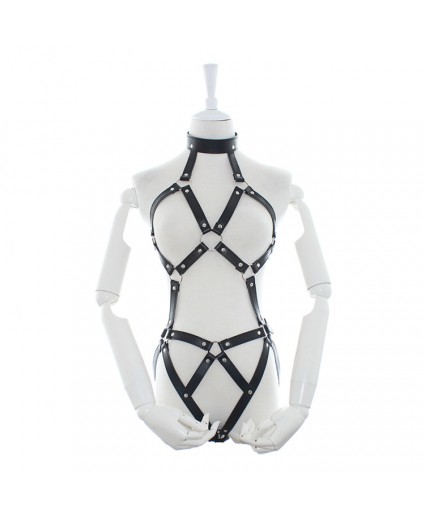 Leather Teddy body harness