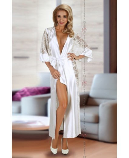 ROBE BOUQUET DRESSING GOWN WHITE