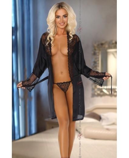 BATA FEDERICA DRESSING GOWN BLACK