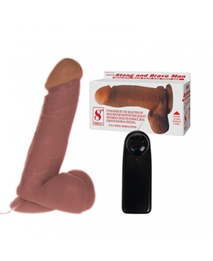 STRONG AND BRAVE MAN VIBRATOR – 20 CM