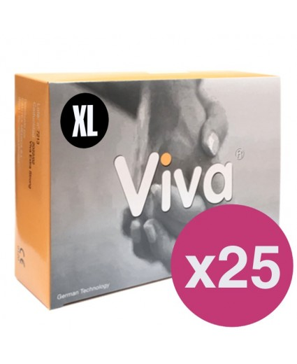.VIVA CONDOMS XL - BOX OF 144 X 25
