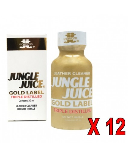 JUNGLE JUICE GOLD LABEL TRIPLE DISTILLED 30 ML - Caixa 12 Frascos