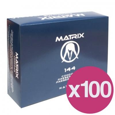 .PRESERVATIVOS MATRIX NATURAL - CAIXA DE 144 X100