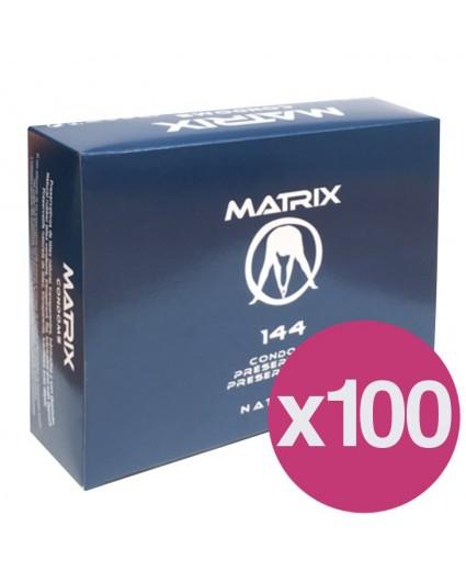 .PRESERVATIVOS MATRIX NATURAL - CAJA DE 144 X 100