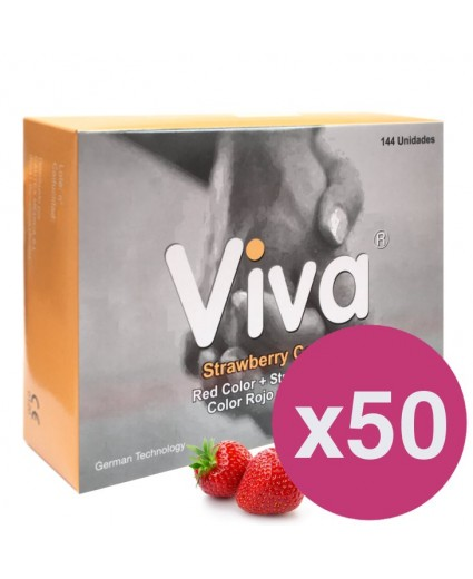 .VIVA CONDOMS STRAWBERRY - BOX OF 144 X 50