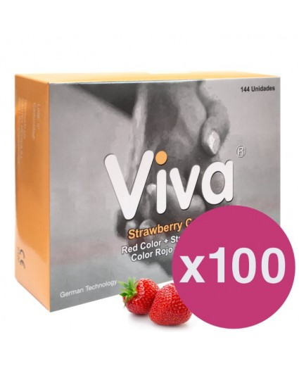 .VIVA CONDOMS STRAWBERRY - BOX OF 144 X 100